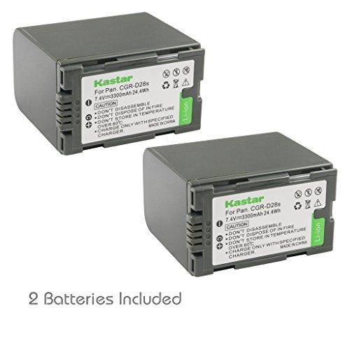 Kastar Battery 2 Pack for Panasonic CGR-D28 D28S CGR-D08 D08S CGR-D14 CGR-D16 D16S, CGR-D120 CGR-D210 CGR-D220 CGR-D320 & Panasonic AG Series, AJ-PCS060G, DZ-MX5000, NV Series, PV Series, VDR-M20