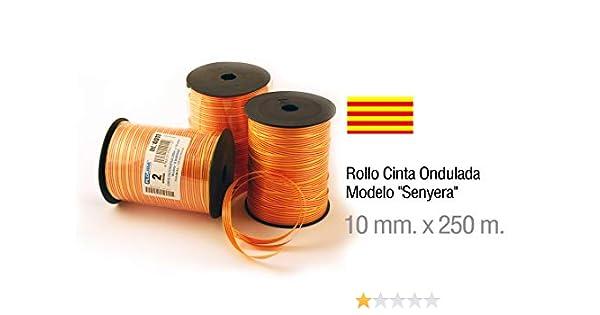 Rollo Cinta Decorativa de la Bandera Catalana Senyera - Tamaño: 250m X 10mm - Ideal para Fiestas Regional: Amazon.es: Hogar