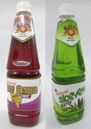 AVP Hitham Aloe Vera Syrup 750ml + Dry Grape Syrup - 750ml (Combo Pack) by Arya Vaidya Pharmacy