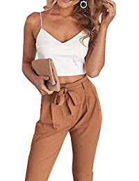 FANCYINN Women 2 Pieces Outfit Spaghetti Strap Top and...