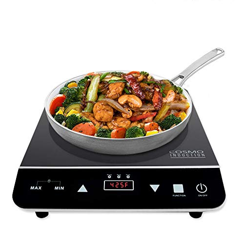 Electric Led Display Cooktop - Cosmo Portable Electric Induction Cooktop with Rapid Heating, Sensor LED Display, Safety Lock, Energy Efficient Countertop Stove Single Burner, 1800-Watt, COS-YLIC1 - Pack of 4