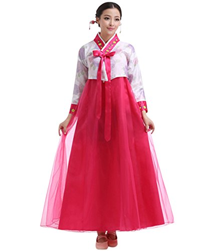 aa2e3541fa CRB Fashion Womens Ladies Traditional Kids Korean Hanbok Outfit Dress  Costume (Small, White/Dark Pink) - Buy Online in UAE. | crb fashion  Products in the ...