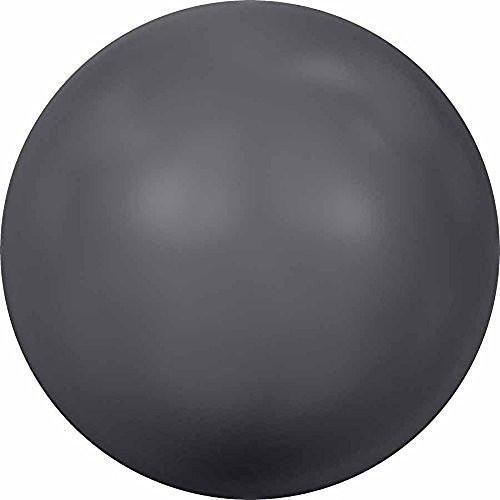 (5818 Swarovski Pearls Round Half Drilled Crystal Dark Grey Pearl | 3mm - Pack of 25 | Small & Wholesale Packs)