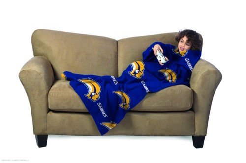 (NHL Buffalo Sabres Youth Comfy Throw Blanket with Sleeves)