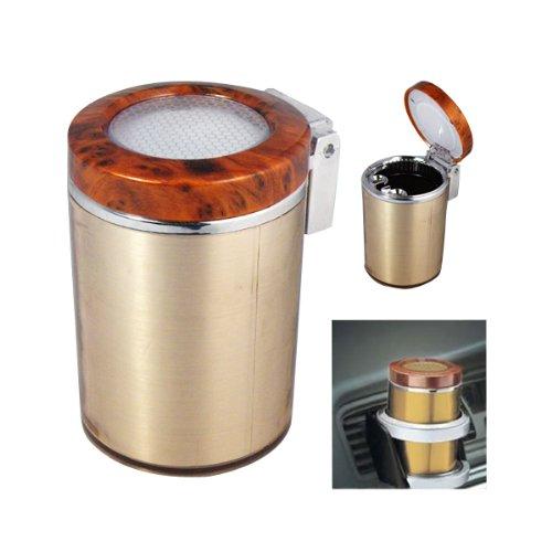 Portable Car Vehicle Air Vent Auto LED Light Cigarette Smokeless Ashtray Holder (Brown Car Ashtray)