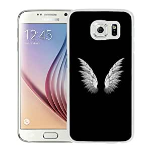 High Quality Samsung Galaxy S6 Case ,Angel Wings Simple White Samsung S6 Cover Unique And Fashion Designed Phone Case