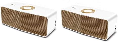 LG Music Flow P5 Portable Bluetooth Speaker, White/Gold