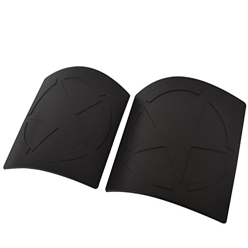 Five Star Cowl Side Body Armor Corner Cover Decals for 2007-2018 Jeep Wranger /& Wrangler Unlimited JK