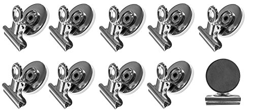 cutequeen 10PCS 50MM Mini Silver Metal Refrigerator Magnetic Clip For Office Organizing, Arts & Crafts,hobbies,Photo Displays,Crafts and Science(PACK OF 10)