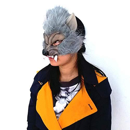 Máscara YN Cabeza del Lobo de los niños de Halloween Terror Devil Fancy Dress Party Adornos Divertidos para Adultos Cubierta de la Cabeza: Amazon.es: Hogar