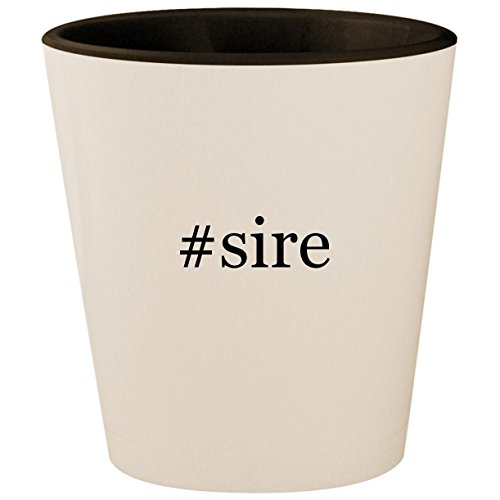 #sire - Hashtag White Outer & Black Inner Ceramic 1 5oz Shot Glass