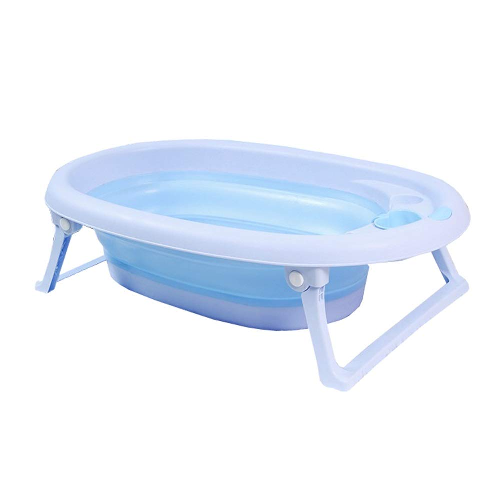 bluee Dog Bath Tub, Collapsible Pet Cat Tub Small and Medium Cat and Dog Universal Medicated SPA Basin Bathtub (color   bluee)