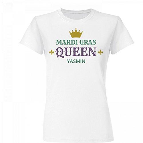 Mardi Gras Queen Yasmin With Crown: Basic Junior Fit Fine Jersey - Bon Yasmin La