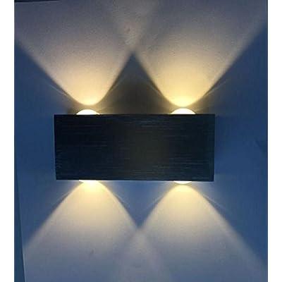 Lightess Applique Murale Eclairage Interieur 4w Led Lampe