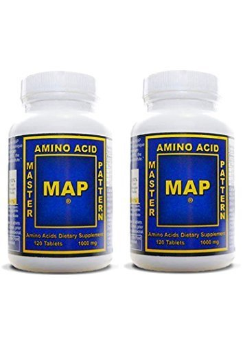 Master Amino Acid Pattern MAP Muscle Building 2 Pack 1000mg 240 Tablets - Other Amino Acids