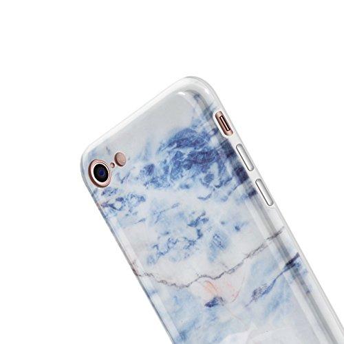 iPhone 8 Hülle, iPhone 7 Marmor Hülle, Vandot TPU Silikon Weich Marble Schutzhülle für iPhone 7 8 Protective Handy Case Cover[Non Slip, Ultra Thin Slim] Glänzend Soft Handyhülle Schutz Handy Hülle Kra