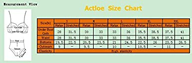 Actloe 2020 Women Printed Two Pieces Tankini Swimsuit with Triangle Bottoms Bathing Suits