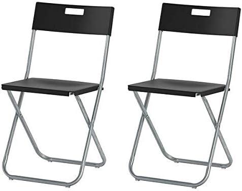 Ikea Gunde – Silla plegable, color negro: Amazon.es: Jardín