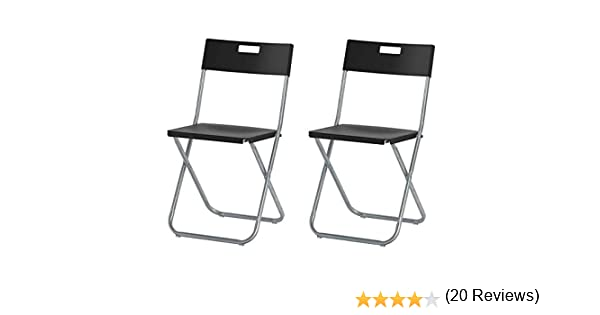Ikea Gunde – Silla plegable, color negro: Amazon.es: Jardín