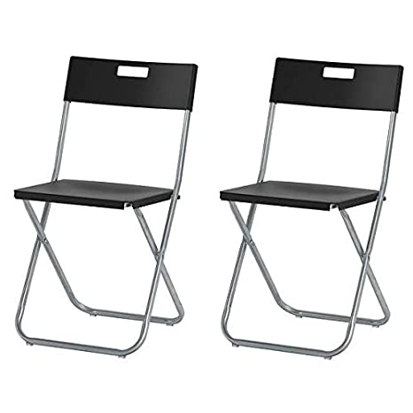 Ikea Gunde – Silla plegable, color negro