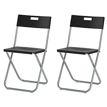 Ikea Silla Plegable Grunde, Negro