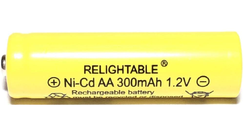 Solar Light AA Ni-CD 300 mAh Rechargable Batteries (Pack of 20) by GSI