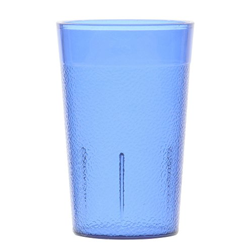 G.E.T. 32 oz Stackable Blue SAN Plastic Pebbled Tumbler