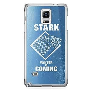 Game of thrones Samsung Note 4 Transparent Edge Case - House Stark