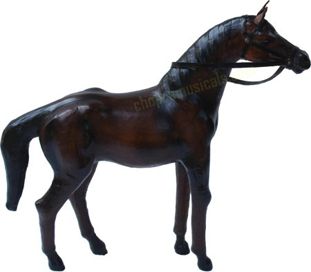 Brand New Leather Horse Standing Collectible Figurine, Dark Brown Good Decorative Product