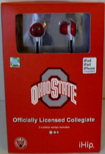 NCAA Officially Licensed Ohio State Buckeyes Earphones from IHip by IHip
