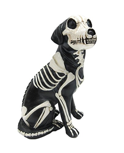 Pacific Giftware Day of The Dead Dog Barking Dia De Los Muertos Dog Sugar Skull Dog Halloween Decoration Day of The Dead Decor 7.5 inch -