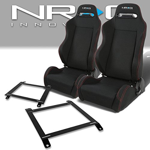 Miata Racing Seat - Pair of RSTRLGBK Racing Seats+Mounting Bracket for Mazda Miata w/Bucket Seat
