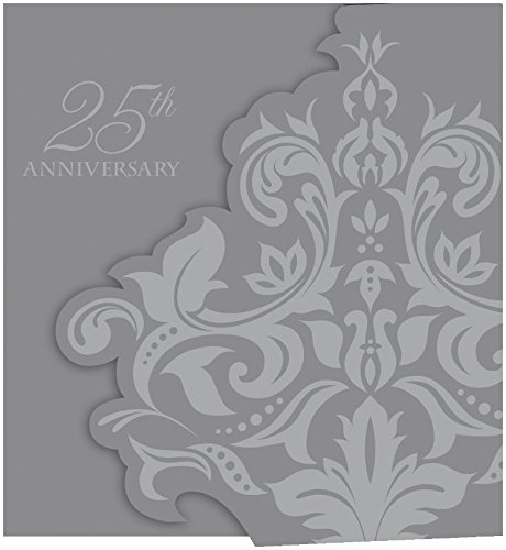 - Creative Converting 25 Count Silver Anniversary Gatefold Party Invitation, Silver
