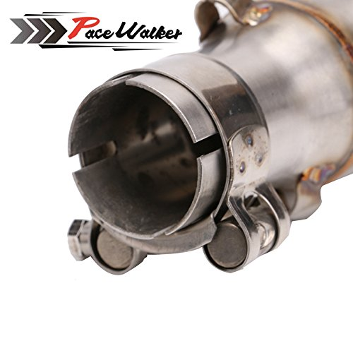 A middle connect for kawasaki Z250SL Motorcycle Exhaust Pipe Muffler Escape Connecting Pipe Front Link Pipe Moto Mid Pipe by pacewalker (Image #4)