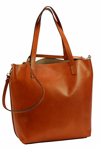 889ddc0015667 ... BOZANA Berlin XXL Luxus Shopper ECHT LEDER Tasche Damentasche Cognac IT  Leather ...