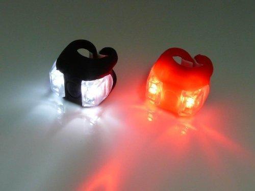 1 par de luz LED para Bicicletas Muy Brillante Bicicleta LED LUZ Montaje en el Estilo del Poste del sill/ín del Manillar