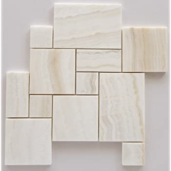 3x6 Pearl White Onyx Subway Brick Polished Tiles For