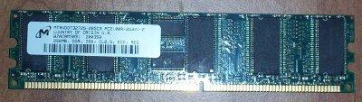 Micron - Memory - 256 MB - DIMM 184-pin - DDR - 266 MHz / PC2100 - CL2.5 - Registered - ECC - MT9VDDT3272G-265C3