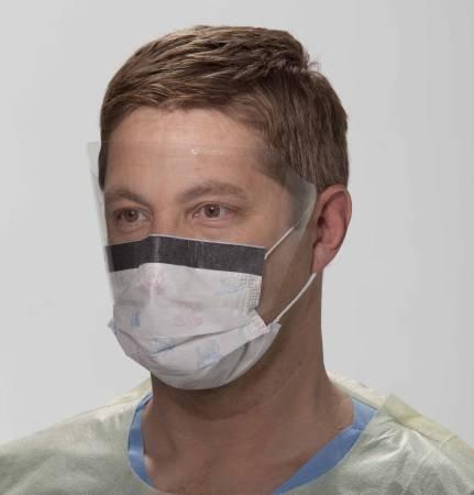 Halyard Procedure Mask with Eye Shield, Teddy Bear Print