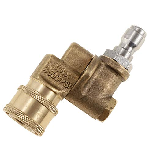 (B Blesiya Quick Connecting pivoting Coupler for Pressure washers nozzles Cleaning high-Pressure to get Hard to Reach Areas 4500PSI 1/4