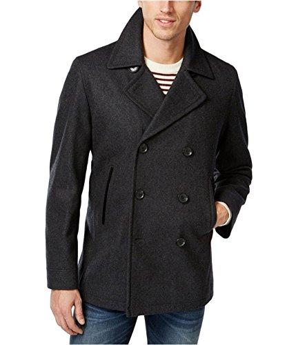 Hooded Wool Toggle Blend (INC Men's Single Breasted Wool Blend Hooded Toggle Coat, Charcoal (Large))