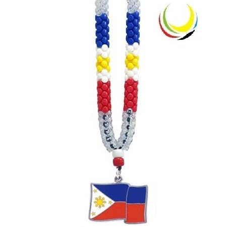 Necklaces - PHILIPPINES FLAG- (Philippines Necklace)
