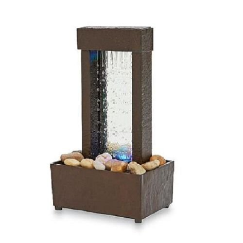 Indoor Tabletop Water Fountain Mini Desk Waterfall Tranquil Home Decor Gift