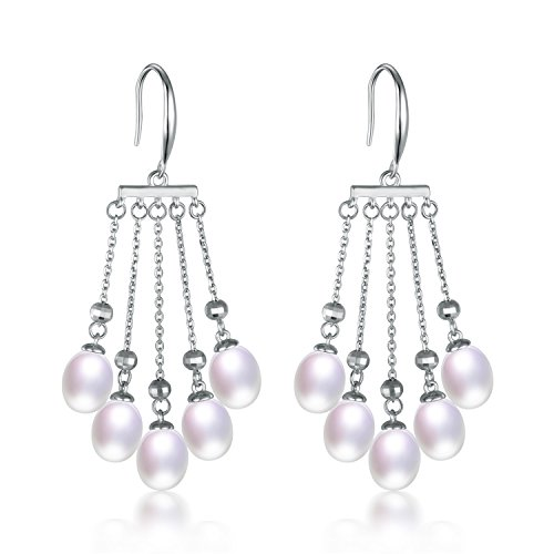 SuperLouisa Fashion jewelry tassel drop Long pearl earrings 925 Sterling Silver Accessories Wedding Gifts - Co And Online Australia Tiffany