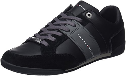 990 Cupsole Noir Material Basses Tommy Black Homme Mix Corporate Hilfiger Sneakers ScqIv