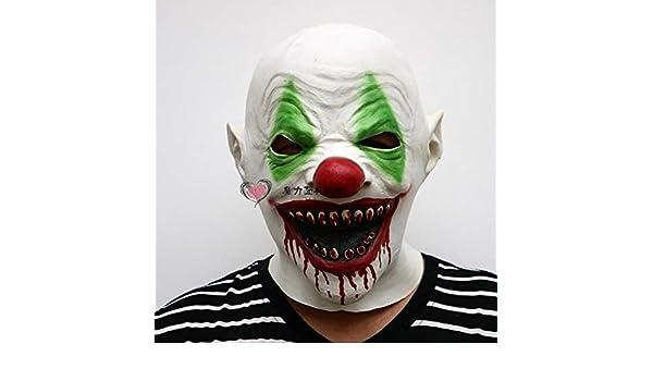 WSJDE Horrores de Halloween Máscaras de Payaso Hombres y Mujeres ...