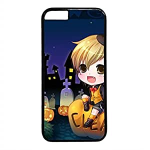 E-luckiycase PC Hard Shell Halloween 11 Black Skin Edges for Iphone 6 Case