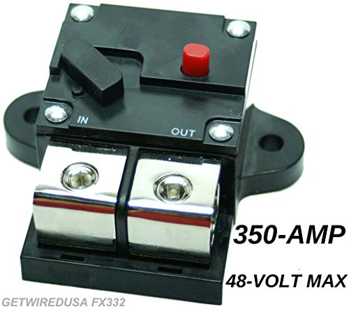 Heavy Duty 350-Amp Industrial Grade High Volt Circuit Breaker 1/2