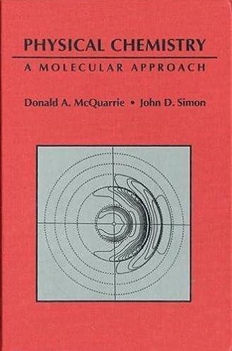 physical chemistry a molecular approach donald a mcquarrie john rh amazon com Chemistry Poster Chemistry Textbook