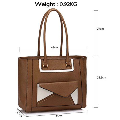 Shoulder Leahward Quality Designer taupe Bag Bag Ladies Bags Nice Women's Tote Pocket Handbags Large 454 Front Size wqXgS